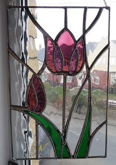 Tulip Beautiful Original Spring Stained Glass Suncatcher