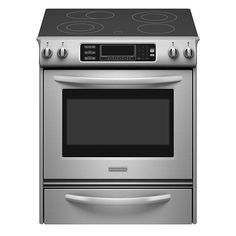 KitchenAid - KESS907SSS - 4.1 cu. ft. Self-Cleaning Slide-In Electric Range - Stainless Steel   Sears Outlet