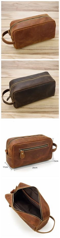Leather Bag Pattern, Dopp Kit, Christmas Gifts For Men, Leather Journal, Toiletry Bag, Leather Men, Leather Handbags, Zip Around Wallet, Creations
