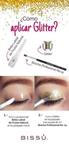 Ponle un poco de Glitter a tu mirada, checa mi tutorial para hacerlo.