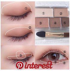 Eye Makeup Blue, Asian Eye Makeup, Eye Makeup Steps, Natural Eye Makeup, Smokey Eye Makeup, Eye Makeup Art, Face Makeup, Eyeshadow Makeup, Nerd Makeup