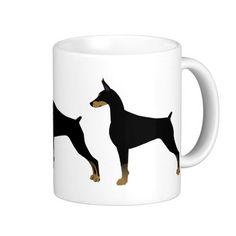 Doberman Pinscher Basic Dog Breed Illustration Coffee Mug