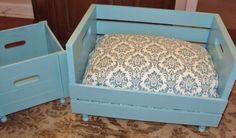 9. Wood #Crate - 31 #DIY Pet Beds for Your Furry #Friends ... → DIY [ more at http://diy.allwomenstalk.com ]  #Cat #Leggy #Beds #Pallet #Bed
