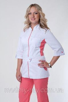 Медицинский костюм 66 размера купить Dental Uniforms, Stevens Point, Tunic Tops, Coat, Women, Fashion, Apron, Places, Moda