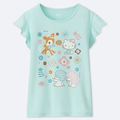 d8df4773516 Uniqlo Girl's Sanrio Characters Short-sleeve Graphic T-Shirt Sanrio  Characters, Little Twin