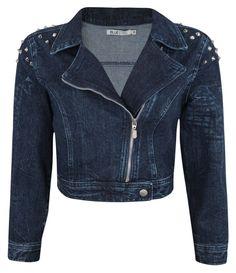 Jaqueta Feminina em Jeans com Spikes - Lojas Renner - $159