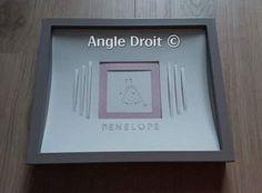 Encadrement de l' Atelier ANGLE DROIT- - Cadeau de naissance- Laly- 2-Cutter Academy 3 Angles, Frame, Home Decor, Picture Frame, Atelier, Decoration Home, Room Decor, Frames