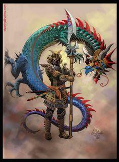 El Samurai Dragon-color by elshazam on DeviantArt Japanese Tattoo Art, Japanese Sleeve Tattoos, Dragon Tatoo, Samurai Warrior Tattoo, Samurai Wallpaper, Samurai Artwork, Ninja Art, Geniale Tattoos, Japan Tattoo