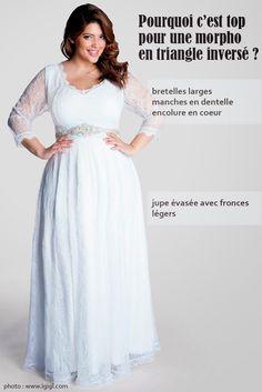 robes de mariée pour femme ronde Curvy by Stéphanie Wolff  Robe de ...