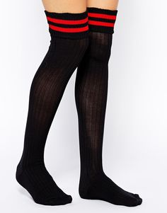 ASOS+2+Stripe+Over+The+Knee+Socks