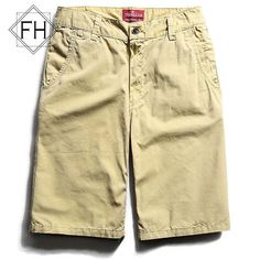 FUHAO 12 Color Casual Shorts Men Cotton loose Work Casual Short Pants 2016 Brand Menswear Soft Solid Mens Trousers,3261D