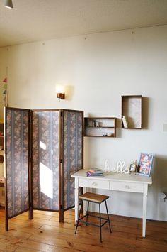 Shining jean ウッドパーテーションSIZE・・・W1440 H1700 D30 待望の、オリジナルウッドパーテーションが届きました!!シックな木目...|ハンドメイド、手作り、手仕事品の通販・販売・購入ならCreema。
