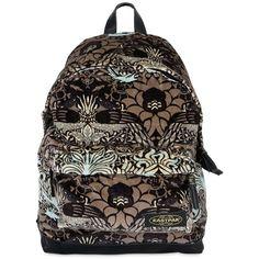 Eastpak Women 24l House Of Hackney Velvet Backpack ($260) ❤ liked on Polyvore featuring bags, backpacks, multicolor, rucksack bag, colorful backpacks, multi color backpack, zip bag and print bags
