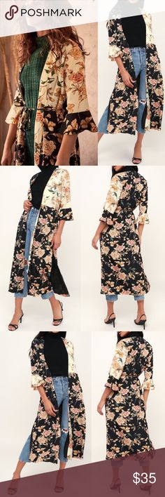 6bf5b62d7 Lulu's Garden Light Floral Duster Bring some floral, Boho vibes to your  look with