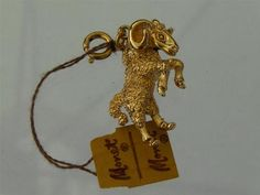 Vintage Monet Zodiac Astrological Sign Aries RAM Figural Charm New Old Stock | eBay