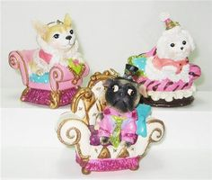 Cute idea for Christmas. Fifi on Fifth Lounging Pet Dog Ornament Collection Katherine's Collection - Treasure Journeys