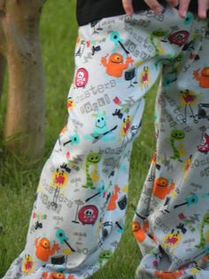 Colt's Lounge Pants Monster Party 12m6 by averymacroo on Etsy, $20.00