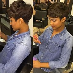 STYLIST FEATURE| Love this #pixiecut on @giannaeiram_ ✂️ styled by #Delawarestylist @Meagandoesmyhair Simple yet chic #voiceofhair