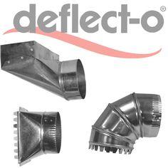 Galvanized, HVAC Rectangular to Round, Angle Boot Fittings - Deflecto ADVP