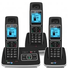 BT 6500 DIGITAL TRIO CORDLESS ANSWER PHONE WITH NUISANCE CALL BLOCKING
