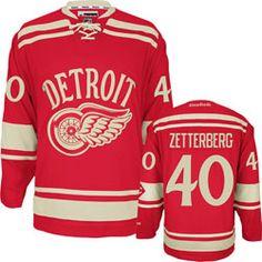 Henrik Zetterberg  40 Detroit Red Wings 2014 Winter Classic Reebok Jersey  Reebok Hockey e2151f31b