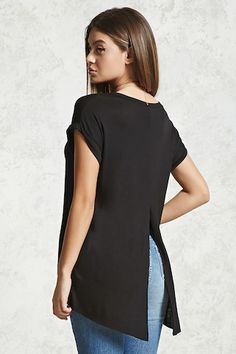 Split-Back Tee - Plain T-Shirts - 2000305603 - Forever 21 EU English