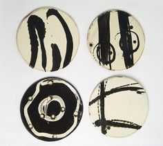 Ceramics by Dylan Bowen at Studiopottery.co.uk - 4 Plates, 32cm. Produced in 2005.