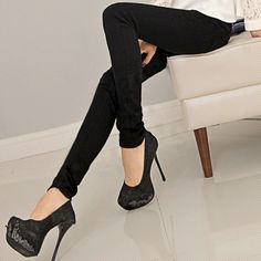 Free shipping 2014 spring and autumn women's black jeans women's skinny pants female plus size basic pencil pants