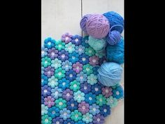 Joined Puff Flowers Crochet Pattern Tutorial | CrochetBeja