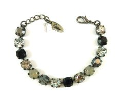 DRAMATIC GRAY New Swarovski crystal 8mm bracelet by SiggyJewelry, designer inspired