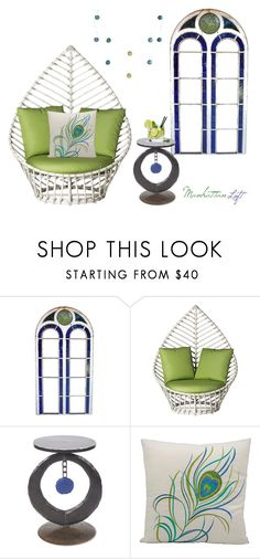 """""""The Balcony"""" by southernreef ❤ liked on Polyvore featuring interior, interiors, interior design, home, home decor, interior decorating, David Francis Furniture, Ben Gatski and Kate Gatski, Mina Victory and Pier 1 Imports"""
