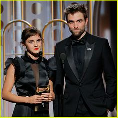 Emma Watson Reunites with Robert Pattinson at Golden Globes 2018! | 2018 Golden Globes, Emma Watson, golden globes, Robert Pattinson | Just Jared Jr.