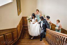 Here comes the bride. Madingley Hall, Cambridge Wedding