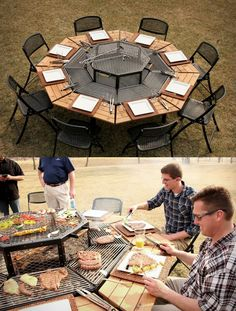 Individual Grills for your next party! Then everyone gets their food cooked exactly how they want it!