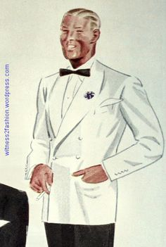 White double breasted dinner jacket, Esquire Aug. 1934.
