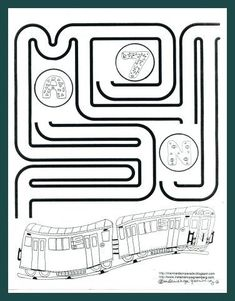 Free, printable subway train coloring page and maze created by children's book illustrator Melanie Hope Greenberg. Car Trip Activities, Train Activities, Activities For Kids, Activity Ideas, Train Coloring Pages, Maze, Book Lists, Childrens Books, Free Printables