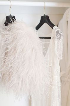 Love, love, love the feather cape idea for part of the wedding outfit you can wear again
