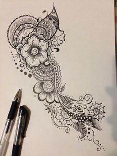 35 Ideas For Awesome Tattoo Designs - Ink - Tattoo Mandala Tattoo Design, Henna Tattoo Designs, Dotwork Tattoo Mandala, Henna Tattoos, Tattoo Designs For Women, Leg Tattoos, Flower Tattoos, Body Art Tattoos, Tattoo Drawings