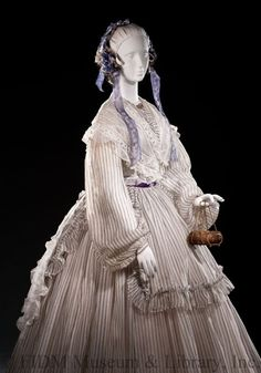 Day gown, 1860s | In the Swan's Shadow