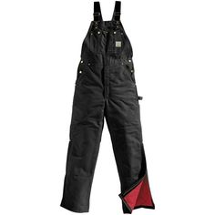 Carhartt Men's Insulated Bib Overall Extremely Rugged Black 50W 34L #Carhartt