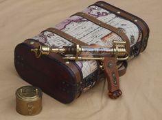 Aetheric Engine Pistol - Brass Steampunk Gun. $350.00, via Etsy.