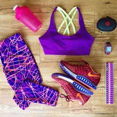 Purple Workout Outfit Idea