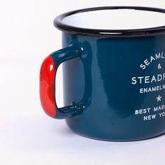 Wow, an enamel coffee mug. Just wow with the typography!