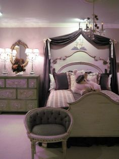 Princess bedroom!  Designed by:  Mary Antenucci Interiors, LLC