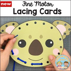 fine motor lacing cards download for preschool and kindergarten