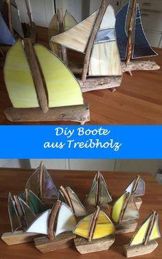 Fantastisch Schöne Geschenk Idee: Segelschiffe Aus Treibholz Und Tiffanyglas. Mit Wenig  Geschick Kann Man Diese