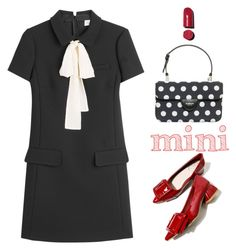 """Polka Dot Mini"" by youaresofashion ❤ liked on Polyvore featuring Rochas, RED Valentino, Chanel and Minime"