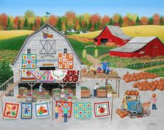 'Autumn Quilts' - painting by Wilfrido Limvalencia