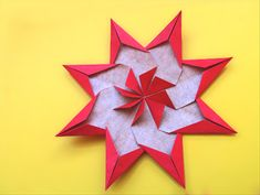How to make a large origami star decoration