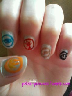 Nail art inspired by Divergent by Veronica Roth